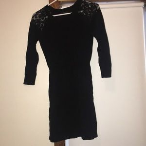 American Eagle cotton dress with lace shoulders